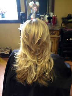 Long hair short layer cut and blow out http://coffeespoonslytherin.tumblr.com/post/157379508247/pixie-haircuts-for-women-over-60-short