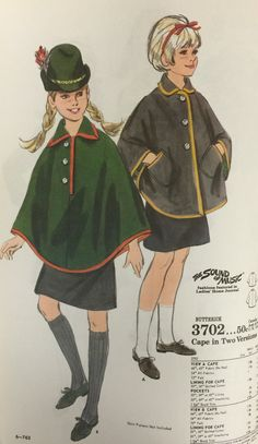 In honor of the 50th anniversary of the Sound of Music movie, here's a Butterick pattern from 1967 inspired by the movie.