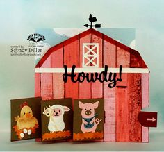 Hi friends, As promised, here is my barn card featuring an alteration to the Triple Flip with the addition of the new farm animals (Chick. Slider Cards, Flip Cards, Fun Fold Cards, Pop Up Cards, Folded Cards, Cool Cards, Waterfall Cards, Simply Stamps, Pet Chickens