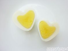 "In my previous post, I did a how to make cube shaped & pyramid shaped hard boiled eggs. (see ""how to mold a hard boiled egg"")It was a lot of fun making the molds, but some of you must be […] Hard Boiled, Boiled Eggs, Choses Cool, Valentines Day Treats, Kids Valentines, Diy Valentine, Food Decoration, Cute Food, Food Art"