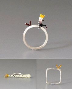 http://TheCarrotbox.com modern jewellery blog : obsessed with rings // feed your fingers!: Kiss the Frog / Ailin Rølvåg