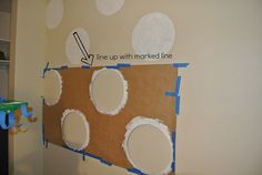 polka dot wall by lullabylubbock, via Flickr
