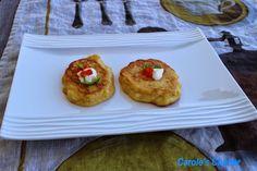Carole's Chatter: Potato pancakes Egg Yolk Uses, Salmon Caviar, Potato Pancakes, Whole Eggs, In The Flesh, Sour Cream, Baked Potato, Frozen, Potatoes