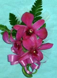Purple Orchid Corsage 3 flowers from Hawaii