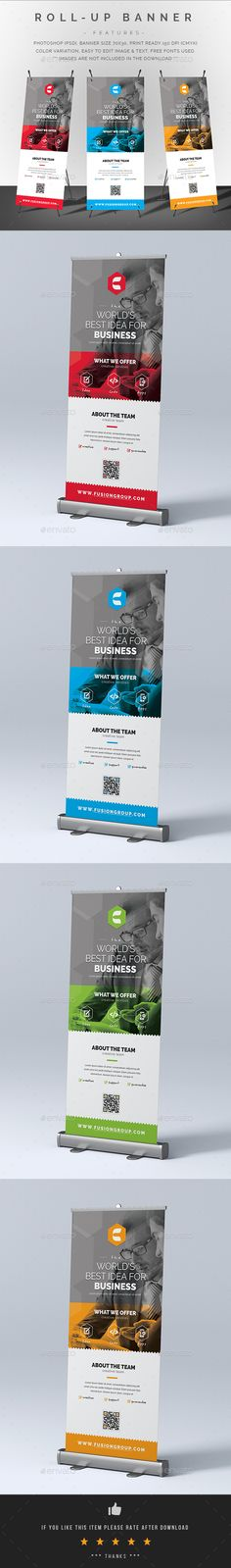 Corporate Roll-Up Banner Template PSD