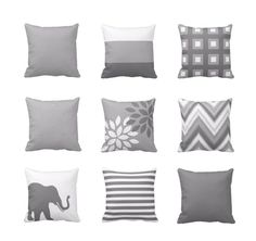 Neutral Throw Pillow Cover Geometric Home Decor by HLBhomedesigns