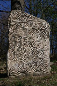 Rune Stones: Wotan by fibacz. Viking Designs, Celtic Designs, Viking Art, Viking Runes, Ancient Art, Ancient History, Arte Tribal, Rune Stones, History Images