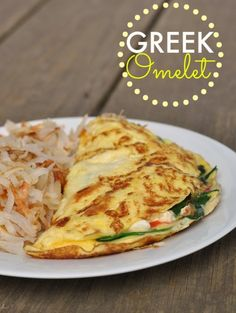 Greek Omelet Serving size: 1 omelet Calories: 234 Fat: 15.5 Carbohydrates: 2.5 Sugar: 2.0 Sodium: 456 Fiber: 1.5 Protein: 17.5 Cholesterol: 433