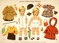 1500 free paper dolls at Arielle Gabriel's International Paper Doll Society...