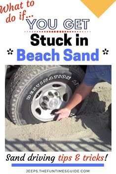 Sand Driving Tips + List Of Beaches You Can Drive On + Beach Driving Tips & Tricks - see how to drive on sand. and NOT get STUCK! Travel Hacks, Travel Tips, Rv Travel, Travel Destinations, Driving Tips, Travel Route, Beach Reading, Travel Alone, Jeep Life