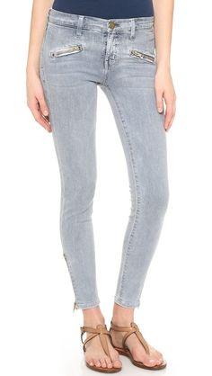 Love these. Run small. Current/Elliott The Soho Zip Stiletto Jeans