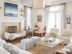 Take a peek at this stunning, shorefront home, which reminds us of Ansley, the interior designer from my new novel Slightly South of Simple's home.