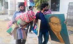 File picture of Rohit Vemula (right), a PhD scholar from Hyderabad Central University who was found hanging in a hostel room. Credit: The News Minute
