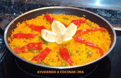 Paella Con Jibia Y Verdura