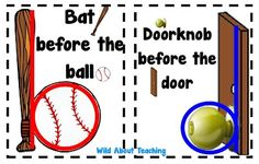 b and d reversals I have the bat and ball, but I've never seen the doorknob and door!