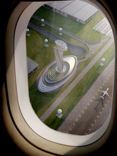 Pininfarina and AECOM won the international design competition for the regional Air Traffic Control (ATC) tower and technical building at the Istanbul New Airport. Concept Architecture, Futuristic Architecture, Green Architecture, Istanbul New Airport, Airport Control Tower, Green Tower, Airport Design, Air Traffic Control, Tower Design