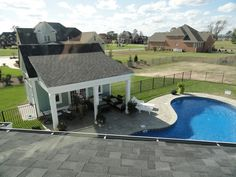 Having a pool sounds awesome especially if you are working with the best backyard pool landscaping ideas there is. How you design a proper backyard with a pool matters. Pool House Shed, Pool House Plans, Pool Cabana, My Pool, Small Pool Houses, Backyard Pool Landscaping, Landscaping Ideas, Backyard Ideas, Simple Pool