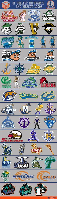 The Best of College Nicknames and Mascots logos College Sport, Inspiration Logo Design, Collage Football, Sports Decals, Sports Team Logos, Team Mascots, Major League Soccer, Logo Sign, Great Logos