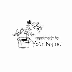 Handle Mounted Personalized custom made rubber by mycustomstamps, $6.95