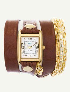 la mer - Brown Gold Disco Gold Chain Wrap