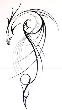 Dragon Tattoo is one of the most popular mystical tattoos. - Dragon Tattoo is one of the most popular mystical tattoos. Like most other mythological tattoos, dra - Trendy Tattoos, New Tattoos, Tribal Tattoos, Tattoos For Women, Tatoos, Tribal Henna, Tribal Drawings, Geometric Tattoos, Foot Tattoos