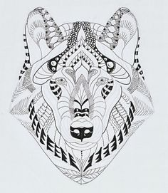 Efie goes Zentangle: wolf van Ben Kwok