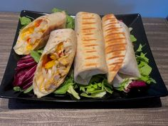 Tortilla z kurczakiem i kapustą pekińską - Blog z apetytem Chicken Wraps, Quesadilla, Fresh Rolls, Sushi, Tacos, Mexican, Lunch, Cooking, Ethnic Recipes