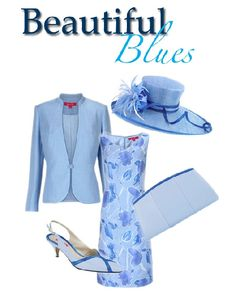 mother of the bride dress in blue - we should all get hats - pretend we're in England! @Karen MacLeod?