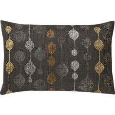 """Quincy 20""""x13"""" Black Pillow Crate and Barrel"""