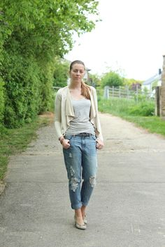 Todays Outfit #356 – Destroyed Boxfriend Jeans kombinieren
