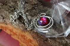 Dragon's Breath large Fire Opal spectacular flames With Matching Earrings Gifts Fire Opal Necklace, Long Pendant Necklace, Summer Gifts, Grad Gifts, Gifts For Wife, Anniversary Gifts, Gemstones, Huge Sale, Gift Ideas