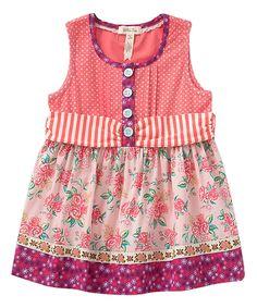 Look what I found on #zulily! Pink & Coral Astara Fancy Sara Top - Toddler & Girls by Matilda Jane Clothing #zulilyfinds