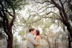 Engagement Photo in Savannah, Georgia.
