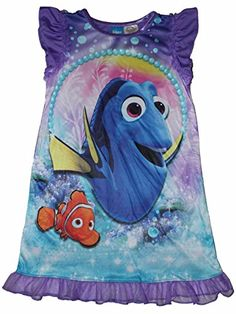 Disney Pixar Finding Dory Girls Nightgown 4-16 * Click here for more details @