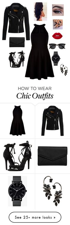 """""""Work #5"""" by tastes-like-black on Polyvore featuring New Look, Schutz, Superdry, LULUS, Roberto Cavalli, Lime Crime and The Horse"""