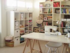Sewing room by Amaya Handmade #craft room #sewing #quilts