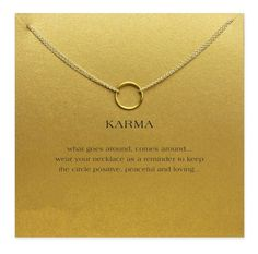 Dogeared - gold karma necklace