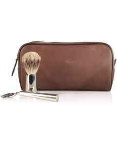 bcb964eb12e9 Polo Ralph Lauren Two-Toned Leather Shaving Bag Men - All Accessories -  Macy s