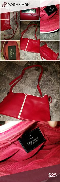 Red Liz Claiborne bag Gorgeous bag I would be keeping this one of it was bigger .perfect for the woman that loves gorgeous small purses.beautiful red with gold accents GREAT  HANDBAG !!!!! Liz Claiborne Bags