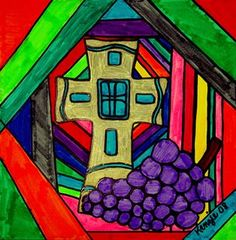 Check out student artwork posted to Artsonia from the First Communion Stained Glass project gallery at St. Cox And Cox, Catholic School, Stained Glass Projects, First Holy Communion, Art Lesson Plans, Art Portfolio, Art Museum, Art For Kids, Art Projects