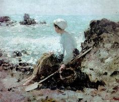Fishermen in Grandville, 1884 Nicolae Grigorescu Russian Painting, Camille Pissarro, Art Database, Beach Scenes, Beach Art, Manet, Renoir, Whistler, New Art