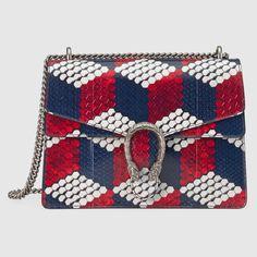 Gucci Dionysus Cubic Python Shoulder Bag