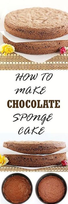 Chocolate Sponge Cake is also known as Chocolate biskvit. It is very similar to traditional white biskvit except you add cocoa powder and less flour to make a perfect chocolate sponge cake layers that can serve as a base for many different chocolate cake
