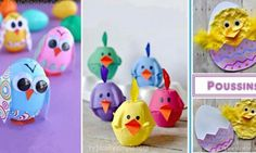 18 Magnifiques bricolages à faire avec les enfants pour Pâques, sous le thème des poussins!