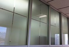 Similar to frosted film, dusted crystal is a finer grain film for an even higher level of sophistication. Achieve the high-end look of etched glass at a fraction of the price. Whether you're looking for privacy in your office or looking to prevent individuals from walking into clear glass, Dusted Crystal window film is an excellent solution. #window #film #tinting
