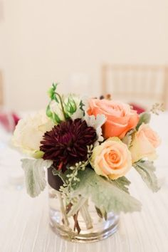 Floral Centerpiece | DAR Wedding | Alicia Lacey Photography