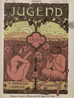 Jugend magazine and a few things have become apparent. If you're interested in fin de siècle art and design then all the most interesting material is in the first four years of the magazine's run, from 1896 on