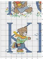 ru / Фото - Les plus belles collections - tymannost Cross Stitch Alphabet, Cross Stitch Patterns, Crochet Patterns, Cute Alphabet, Alphabet Design, Crochet Purses, Le Point, Cross Stitching, Needlework