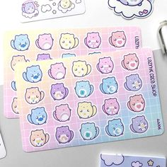 Care Cats Stickers – LaznyeCreaShop Vinyl Sticker Paper, Cat Stickers, How To Draw Hands, Doodles, Bullet Journal, Rainbow, Cats, Rain Bow, Rainbows