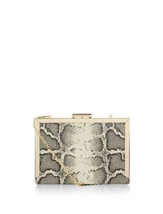 Show your wild side with the Black Snakeskin Box Clutch. #newlook #bags